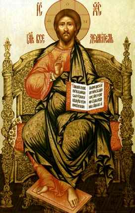 the icon The Saviour enthroned